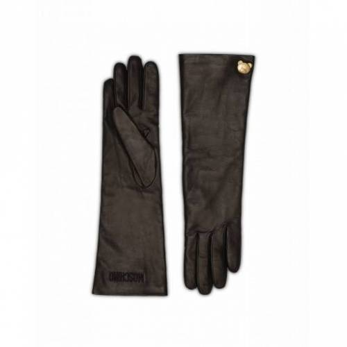 Moschino Lange Handschuhe Teddy Stud