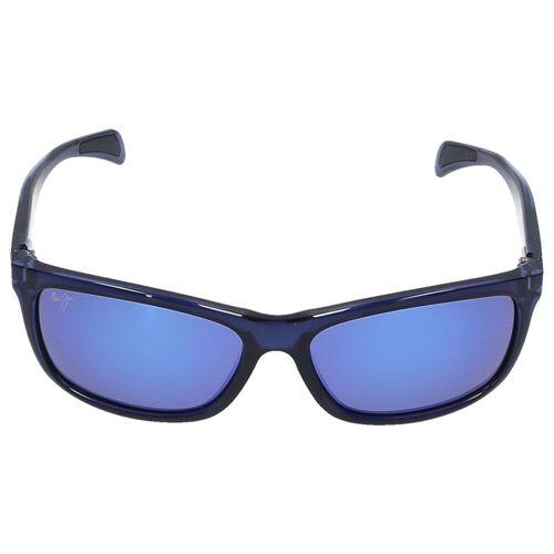 Maui jim Sonnenbrille D-Frame PUHI 08A Acetat blau