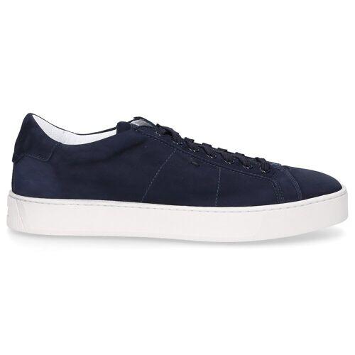 Santoni Sneaker low 21012 Nubukleder Logo blau