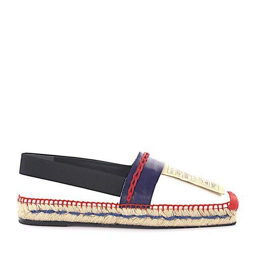Balenciaga Espadrilles WAD46 Leder blau weiß rot Stoff schwarz Leder Authentifizierung Bast