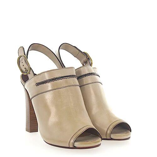 Chloé High Heel Peeptoes beige