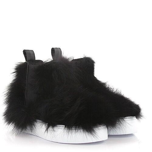 Dsquared2 Sneaker High Fufone Fuchsfell schwarz