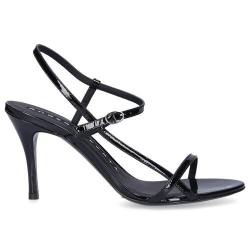 Sandalen GENEVE Lackleder Logo schwarz