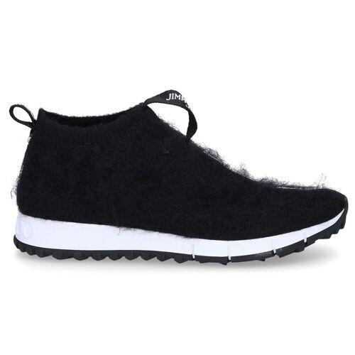 Jimmy Choo Sneaker low NORWAY Lammfell Logo schwarz