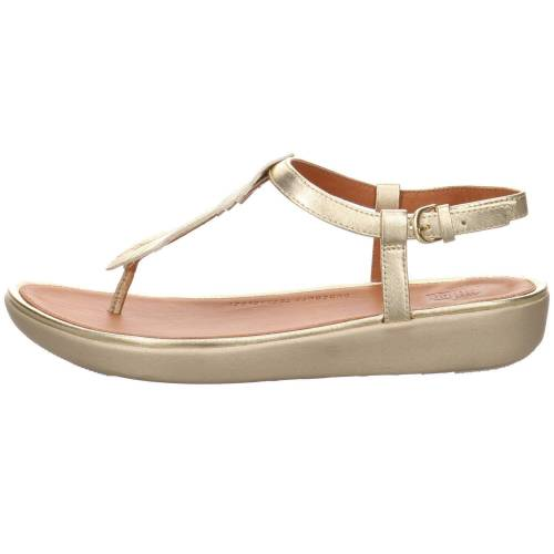 FitFlop Tia Feather Sandale in gold
