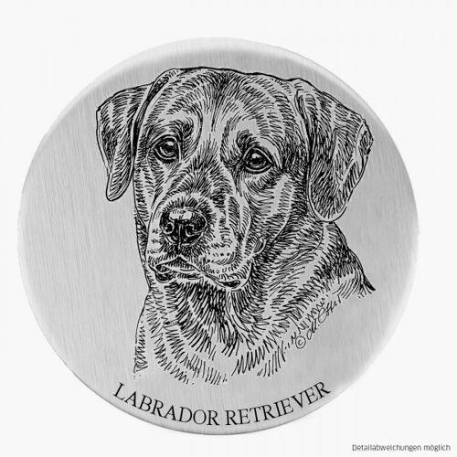 Alu-Plakette Labrador/blond
