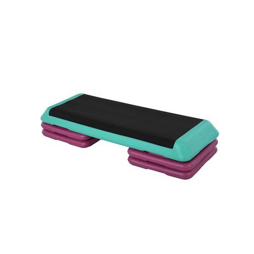 HOMCOM Steppbrett höhenverstellbar HOMCOM schwarz, grün, violett