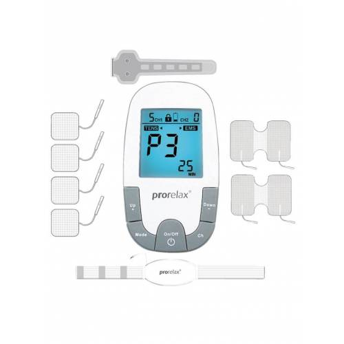 Prorelax® TENS + EMS SUPER DUOplus Elektrostimulationsgerät Prorelax weiß