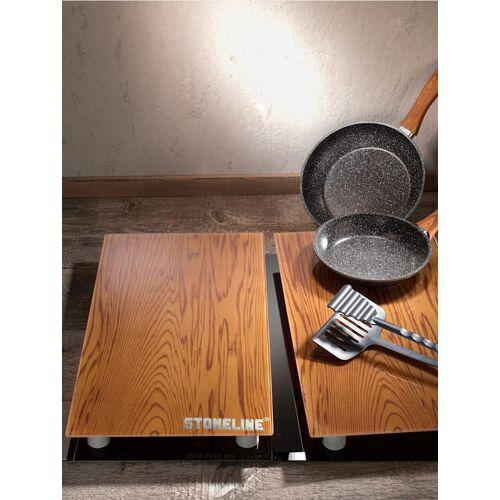 Stoneline 5tlg. STONELINE® Kochset in Holzoptik Stoneline schwarz/braun