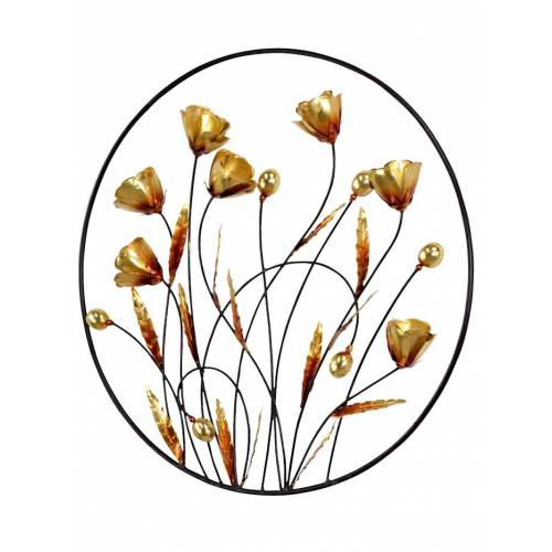 KLiNGEL Wanddekoration Blumen KLiNGEL Gold