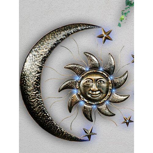 Schwartinsky Solarwanddeko 'Sonne & Mond' Schwartinsky metall