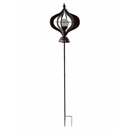 Harms Windspiel mit Solarbeleuchtung Harms Bronze