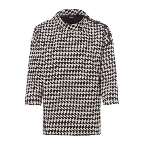 Olsen Sweatshirt mit Hahnentrittmuster Olsen Black