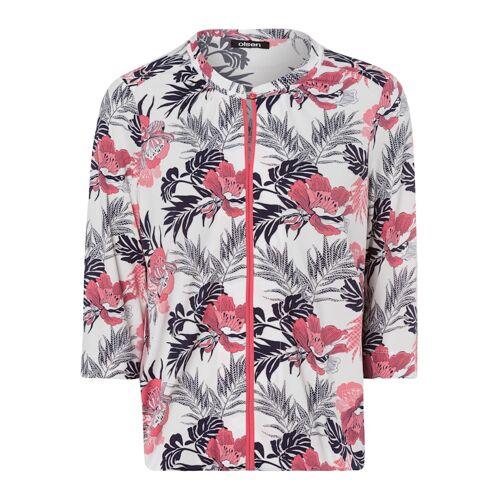 Olsen 3/4-Arm-Shirt mit exotischen Blumen Olsen Coral