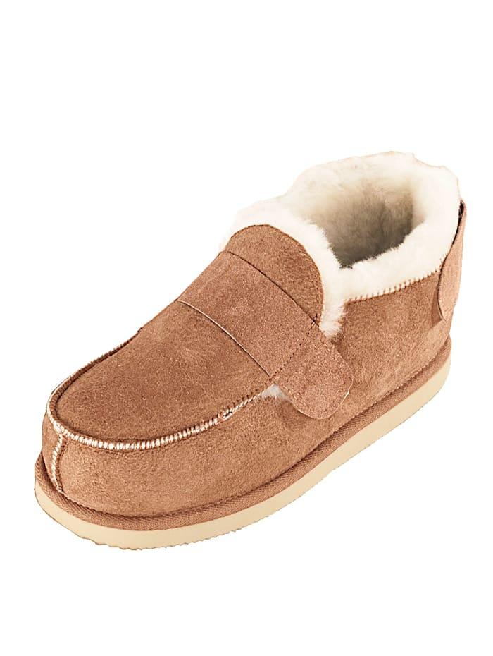 Kaiser Lammfell-Komfort-Schuhe Kaiser Naturfellprodukte Braun