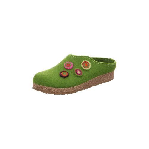 Haflinger Hausschuhe Haflinger grün