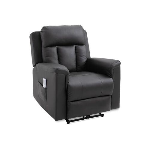 HOMCOM Fernsehsessel mit Massage- und Wärmefunktion HOMCOM schwarz