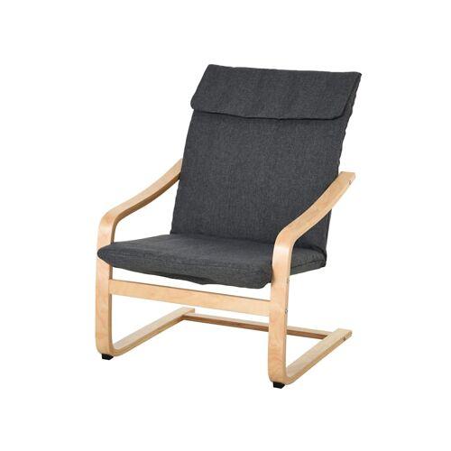 HOMCOM Relaxsessel mit Armlehne HOMCOM grau