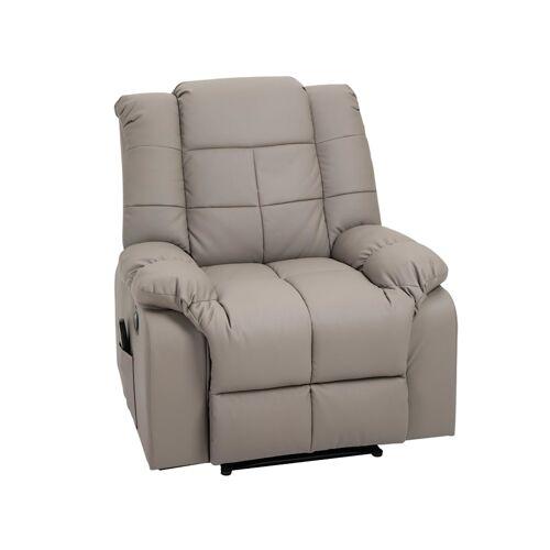 HOMCOM Massagesessel mit Wärme- und Liegefunktion HOMCOM grau