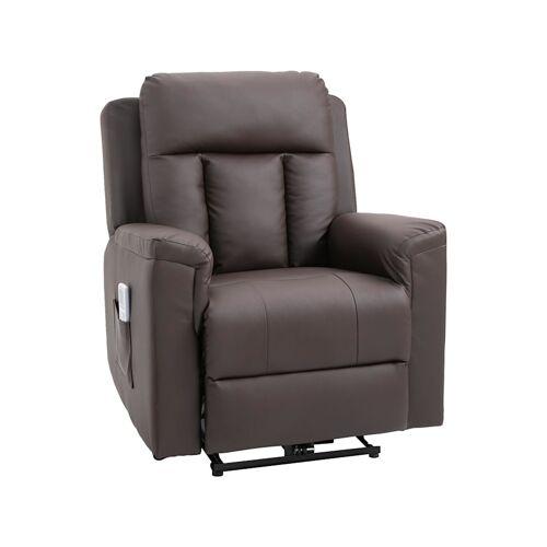 HOMCOM Fernsehsessel mit Massage- und Wärmefunktion HOMCOM braun