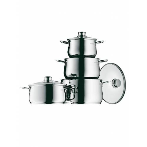 WMF Topfset Diadem Plus aus Edelstahl WMF Silber metallic