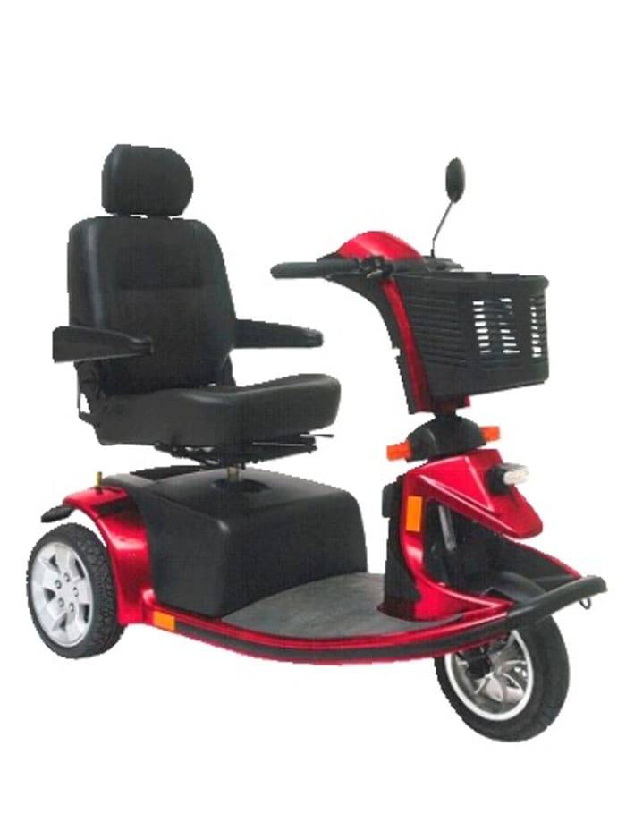 Mobilis 3-Rad-Scooter Mobilis Rot::Schwarz