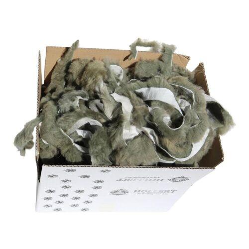 Hollert Lammfell BASTELFELLE 1,5 kg OLIVGRÜN