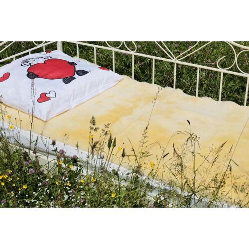 Hollert Bettauflage aus Lammfell pflanzliche Gerbung 160 x 80 cm