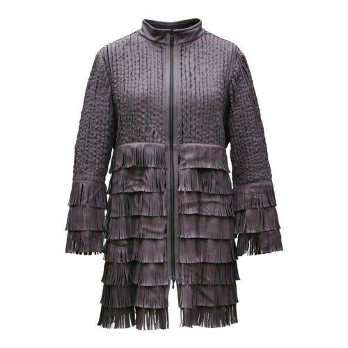 Hollert German Leather Fashion Lederjacke - MADONNA L Weiß