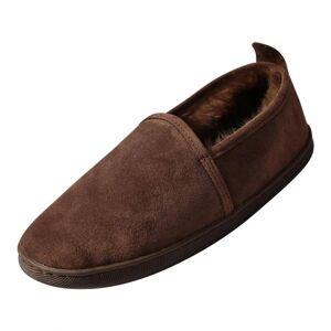 Hollert German Leather Fashion Lammfell Hausschuhe - HUBERT EUR 46 - Braun