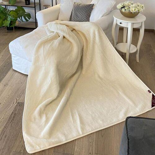 Hollert Wolldecke Kaschmir Prestige 160 x 200 Ecru