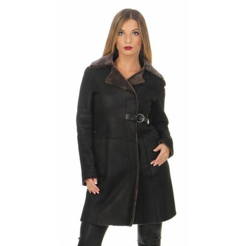 Hollert German Leather Fashion Lammfellmantel - SHEARLING XS - Braun
