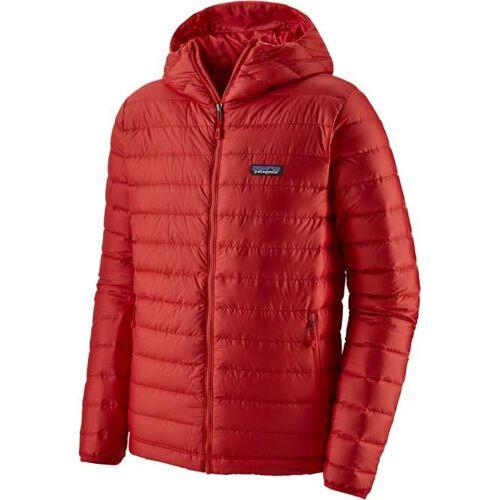 Patagonia Down Sweater Hoody Men - fire   S