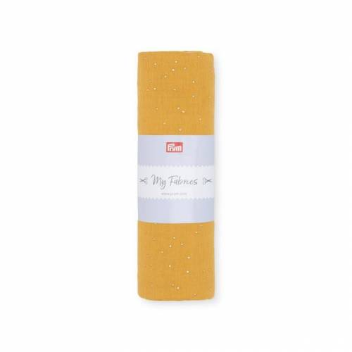 PRYM Musselin DOTS   Größe 1m   Farbe: senf   Kategorie: Musselin   100% Baumwolle