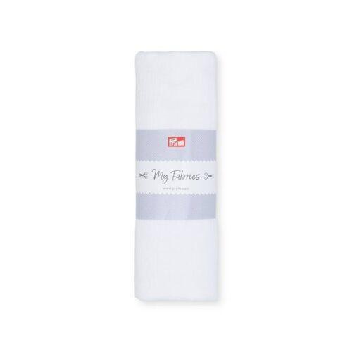 PRYM Musselin UNI   Größe 1m   Farbe: weiß   Kategorie: Musselin   100% Baumwolle