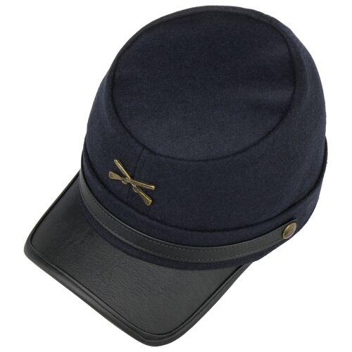 Lipodo Nordstaaten Schildmütze Schirmmütze Ballonmütze USA Kappe Historische Mütze Nordstaatenmütze blau M (56-57 cm)