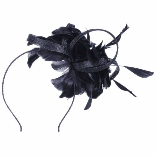 McBURN Cila Sinamay Fascinator Haarschmuck Haarreifen Kopfschmuck Brautschmuck Brauthut blau One Size