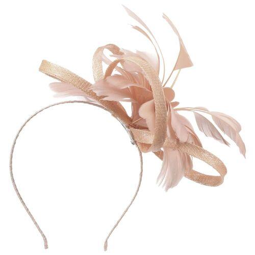 McBURN Cila Sinamay Fascinator Haarschmuck Haarreifen Kopfschmuck Brautschmuck Brauthut pink One Size