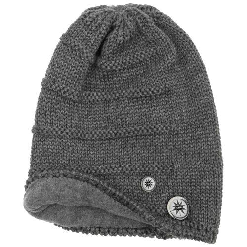 Eisbär Cullen Oversize Beanie Strickmütze Mütze Oversize-Mütze Skimütze Wintermütze Wollmütze anthrazit One Size