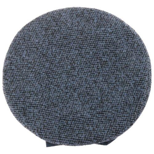 bedacht Wollbaske mit Schleife Baskenmütze Damenbaske Baskenmütze blau One Size