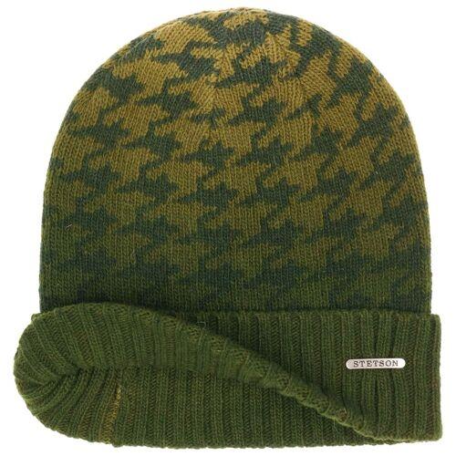 Stetson Percylane Wool Beanie Mütze Umschlagmütze Wintermütze Wollmütze mit Umschlag grün One Size