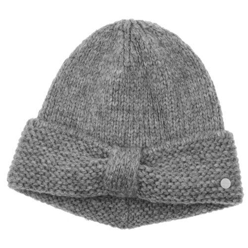 Lierys My-Mohair Strickmütze Wollmütze Wintermütze Damenmütze Mütze grau One Size