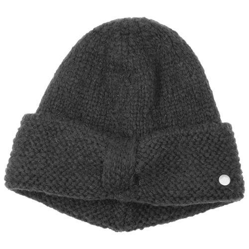 Lierys My-Mohair Strickmütze Wollmütze Wintermütze Damenmütze Mütze schwarz One Size