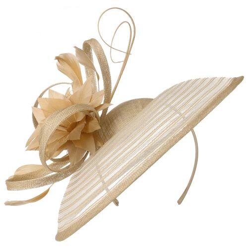 McBURN Sinamay Flower Fascinator Haarschmuck Anlasshut Hochzeitshut Damenhut