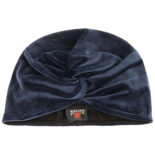 Mayser Omara Turban Samtturban Damenturban Damenmütze blau M (57-58 cm)