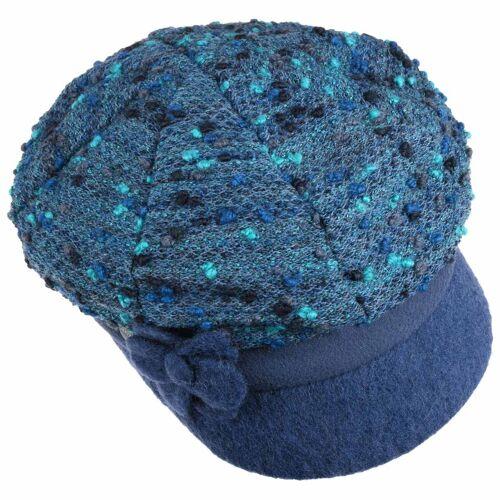 Lierys Misina Lierys Ballonmütze Schildmütze Schirmmütze Damencap Wollcap blau One Size