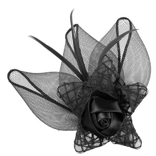 McBURN Roses Fascinator mit Clip Haarschmuck Kopfschmuck