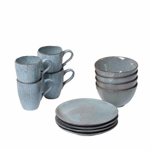 Broste Nordic Sea Frühstück-Set Geschirr  grau