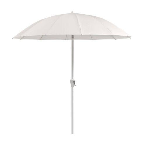Weishäupl Werkstätten Pagodenschirm Sonnenschirm mit Kurbel ohne Schirmständer  weiß