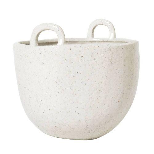 ferm living Speckle Pot Blumentopf  weiss
